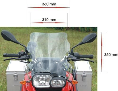 large touring windscreen bmw f800gs f700gs f650gs twin. Black Bedroom Furniture Sets. Home Design Ideas