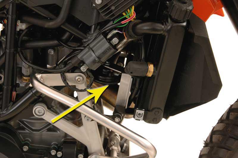 Horn repositioner KTM 690 Enduro (non-abs)