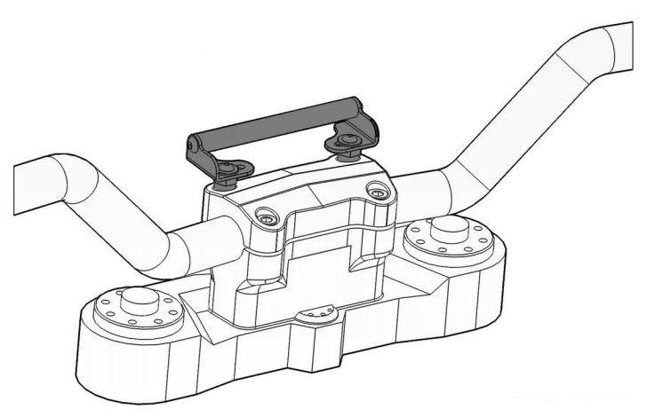 gps bracket adapter  on handlebars  kawasaki versys 650