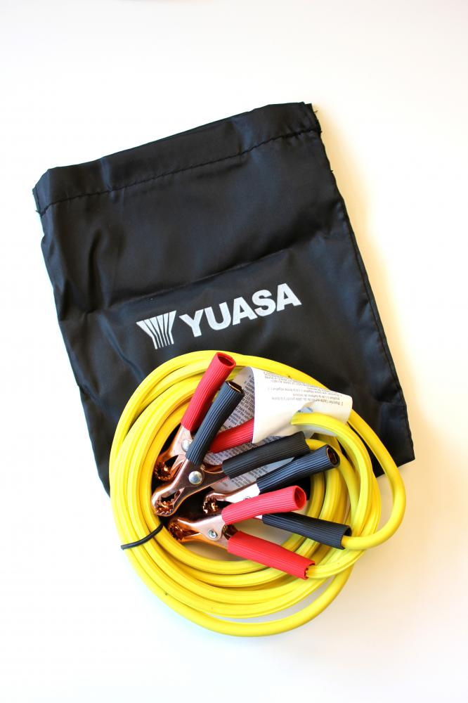 Compact Motorcycle Jumper Cables 8 Ft
