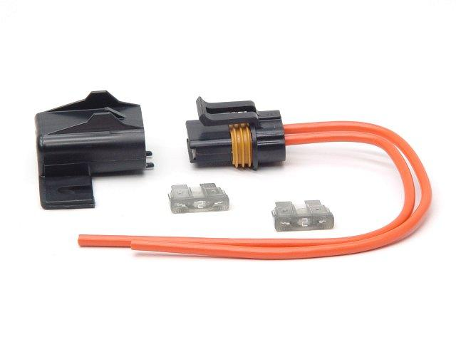 Fuseholder with two \'20-amp\' standard blade fuses