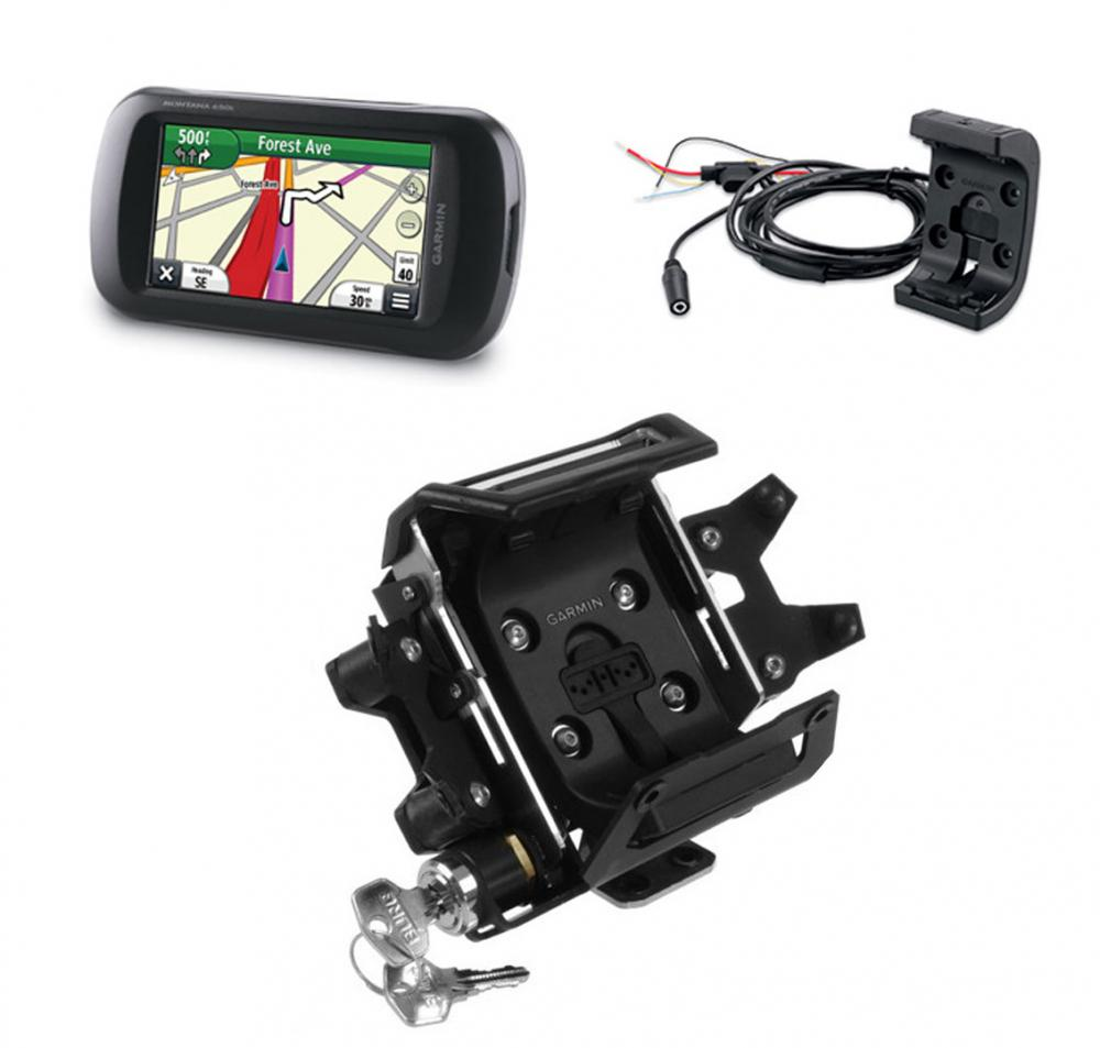 Motorcycle Gps Mounts Devices Block Diagram Handphone Garmin Montana 610 Locking Mount Cradle Package