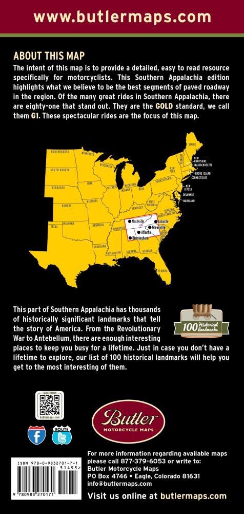 Honda North Butler >> Butler Motorcycle Maps - Southern Appalachia