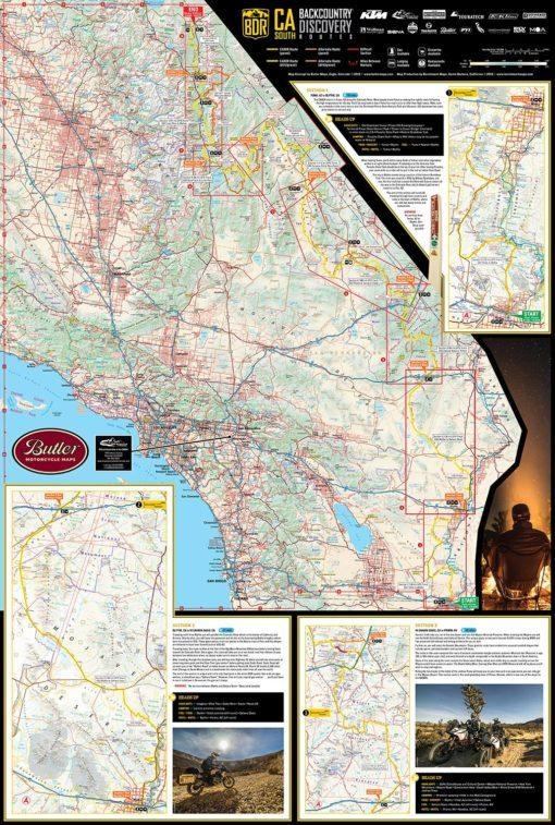 Map Of California Usa.Butler Motorcycle Maps California Backcountry Discovery Route