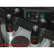 Handlebar Risers R1100GS and R1150GS (incl Adventure)25mm Black