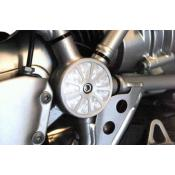 Suspension Pivot Cover - Left Silver R1200GS and Adventure