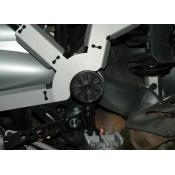 Suspension Pivot Cover - Left Black R1200GS and Adventure