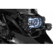Quick Release Stainless Steel Headlight Guard, w/o lower extension, Black Powdercoated, BMW R1200GS / ADV, 2013-on (Water Cooled)