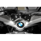 RAM swivel head adapter on fork brace BMW R1200RT, 2010-2013