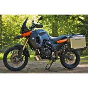 Large Fuel tank F800GS up to 2012, +5.3g Black/LavaOrange