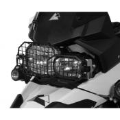 Quick Release Stainless Steel Headlight Guard, Black, BMW F800GS/ADV, F700GS, F650GS-Twin, 2008-on