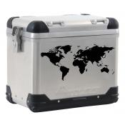 World Map pannier decal BLACK