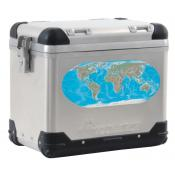 World Map pannier decal - Detail COLOR