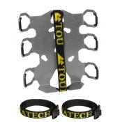 Zega Pro Quick Release Double Bottle Holder w/ strap protectors (fits base plate 050-0830)