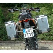Pannier System KTM 690 (2018 and older) 31L,38L w SS rack Anodized-Silver