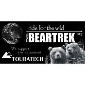 BEARTREK sticker; 6 x 12 cm