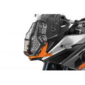 Quick Release Stainless Steel Headlight Guard, KTM 1190 & 1090 Adventure / R / 1290 SA