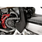 Carbon Fiber Frame Guard, Left Lower, Husqvarna TE 250/310/450/510 up to 2009