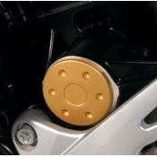 CLOSEOUT - Anodized Swingarm Pivot Covers, Gold, BMW F800R (Was $69)