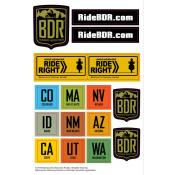 Backcountry Discovery Routes (BDR) Sticker Pack
