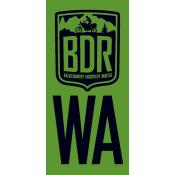 Washington Backcountry Discovery Route WABDR Pannier Decal