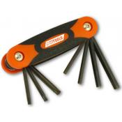 Cruz Tools Folding (inch) Hex and Torx Key Set
