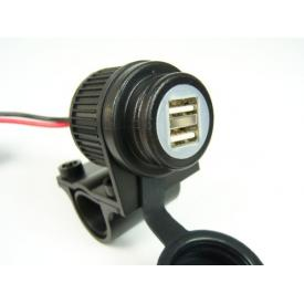 Dual USB Power Outlet w/ Handlebar Clamp Product Thumbnail