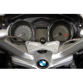 RAM swivel head adapter (Deluxe) on fork brace BMW R1200RT (with handlebar riser), 2010-2013 Product Thumbnail
