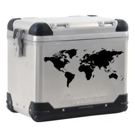 World Map pannier decal BLACK Product Thumbnail