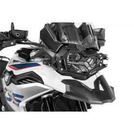 Quick Release Stainless Steel Headlight Guard, Black, BMW F850GS / ADV, F750GS Product Thumbnail