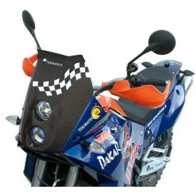 KTM 950/990 LC8 Adventure light cowling twin headlights DE/DE, black Product Thumbnail