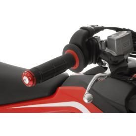 Anodized Handlebar End Caps, Red, Ducati Multistrada 1200 (2010-2014), Husqvarna TE 250 / TE 630 / TE 449 2010-on Product Thumbnail