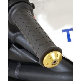 CLOSEOUT - Aluminum handlebar ends, anodized gold, Triumph Street Triple 675 (Was $60) Product Thumbnail