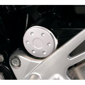 CLOSEOUT - Anodized Swingarm Pivot Covers, Silver, BMW F800R (Was $69) Product Thumbnail