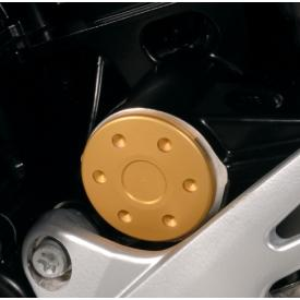 CLOSEOUT - Anodized Swingarm Pivot Covers, Gold, BMW F800R (Was $69) Product Thumbnail