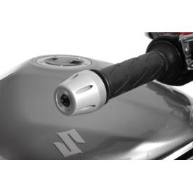 CLOSEOUT - Aluminum Handlebar Ends, Anodized Natural, Suzuki Bandit 1250S, 2010-on (Was $69) Product Thumbnail