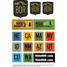 Backcountry Discovery Routes (BDR) Sticker Pack Product Thumbnail