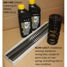 Scratch & Dent - Touratech 50mm Lowering Fork & Shock Spring Kit, BMW F800GS, 2008-2012, 040-7402, Was $389.00 Product Thumbnail