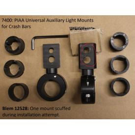 Scratch & Dent - Universal Auxiliary Light Mounts for Motorcycle Crash Bars, 74000, Was $45.95 Product Thumbnail