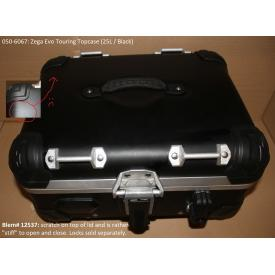 Scratch & Dent - 25L Anodized Black Zega Evo Aluminum Touring Topcase, 050-6067, Was $600 Product Thumbnail