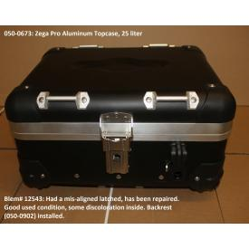 Scratch & Dent - Zega Pro Aluminum Touring Topcase, Anodized Black 25L, 050-0673, Was $550 Product Thumbnail