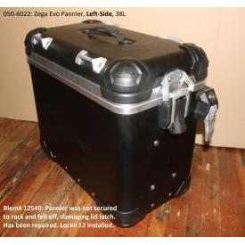 Scratch & Dent - Zega Evo Aluminum Touring Pannier, Left Side, 38L, Anodized Black, 050-6022, Was $650 Product Thumbnail