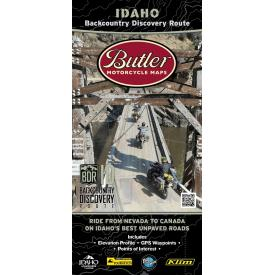 Idaho Backcountry Discovery Route (IDBDR), Butler Motorcycle Map Product Thumbnail