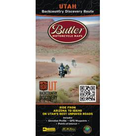 Butler Motorcycle Maps - Utah Backcountry Discovery Route (UTBDR) Product Thumbnail