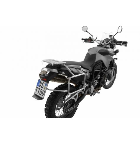 Stainless steel pannier rack on F800GS
