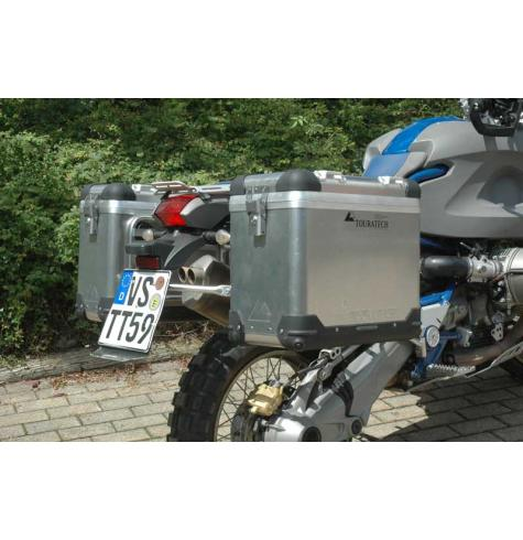 Photo shows un-coated panniers.  The Silver-Anodized panniers is the BEST looking set on the HP2.