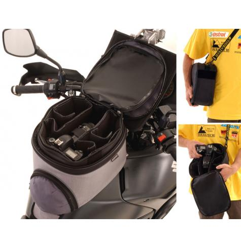 "The item is shown insterted into a TOURATECH tankbag.  Please see the ""larger image"" for better understanding."
