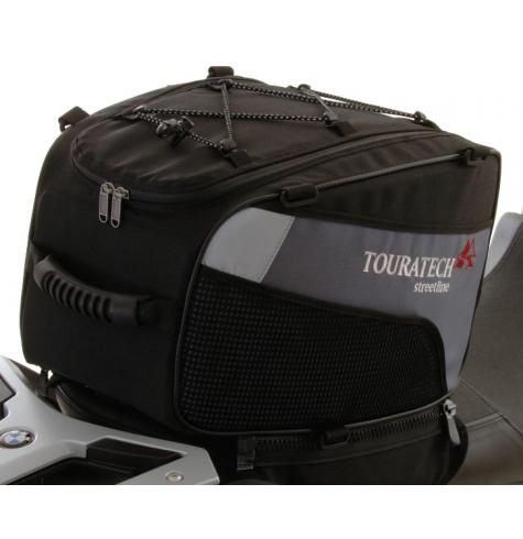 This great-looking touring bag attaches securely to the passenger seat of your motorcycle.