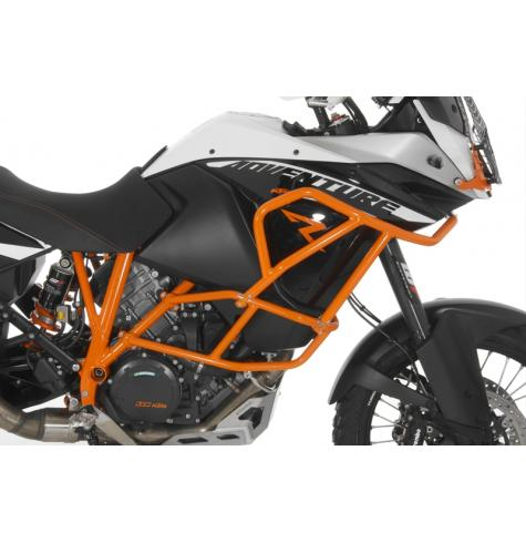 Like a roll-cage for your motorcycle, the Touratech upper crash bars provide ultimate protection for your KTM 1190 Adventure or ADV R, adding a much needed extension to your factory crash bars.