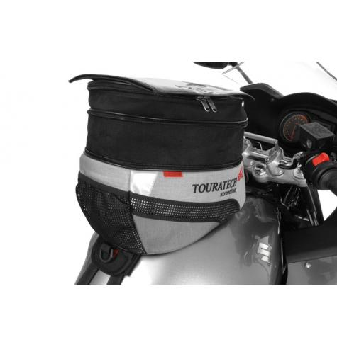 Photo shows tank bag expanded